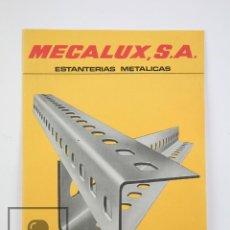 Catálogos publicitarios: CATÁLOGO PUBLICITARIO - MECALUX. ESTANTERÍAS METÁLICAS - AÑOS 70. Lote 118557083