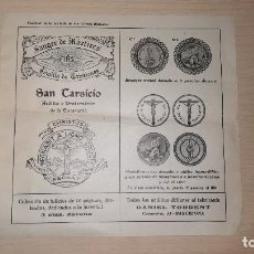 Catálogos publicitarios: ANTIGUO FOLLETO PUBLICITARIO RELIGIOSO, DANIEL TORRET, BARCELONA. Lote 118600507