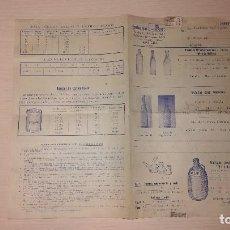 Catálogos publicitarios: ANTIGUO CATALOGO DE SIFONES, BOTELLAS Y RECIPIENTES, HISAM, BARCELONA. Lote 118600827