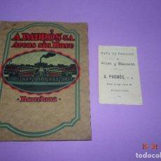 Catálogos publicitarios: ANTIGUO CATÁLOGO DE ARCAS, CÁMARAS ACORAZADAS, BASCULAS DE A. PADRÓS S.A. DE BARCELONA - AÑO 1920S.. Lote 118855083