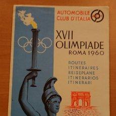 Catálogos publicitarios: XVII OLIMPIADAS, ROMA 1960, RUTAS EN COCHE, CLUB DEL AUTO DE ITALIA . Lote 119144115