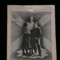 Catálogos publicitarios: F1 UN DOCUMENTO DE FE EN UNA OBRA DE ARTE WARNER BROS EL MENSAJE DE FATIMA AÑO 1953 . Lote 119211203