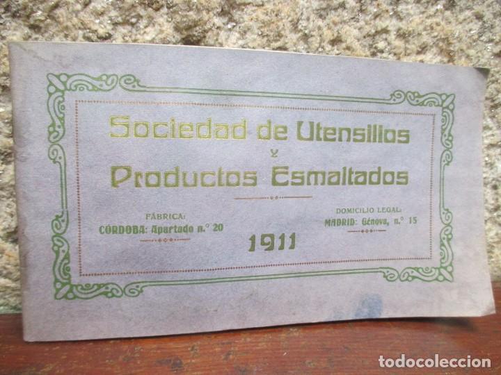 CORDOBA MADRID 1911 - SOCIEDAD DE UTENSILIOS Y PRODUCTOS ESMALTADOS - CATALOGO VAJILLA HOGAR + INFO segunda mano