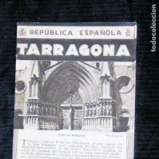 Catálogos publicitarios: F1 TEXTO EN ALEMAN TARRAGONA REPUBLICA ESPAÑOLA PORTADA DE LA CATEDRAL 5 FOTOS POR WUNDERLICH 1992. Lote 119221107