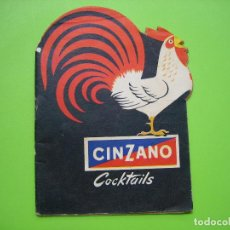 Catálogos publicitarios: ANTIGUO CATALOGO PUBLICITARIO CINZANO. COCKTAILS. Lote 119426643