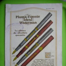 Catálogos publicitarios: ANTIGUO CATALOGO PLUMA-FUENTE IDEAL WATERMAN. RODRÍGUEZ BENDAL. SAN FERNANDO. CADIZ. Lote 119996063