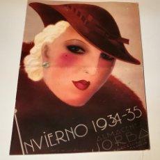 Catálogos publicitarios: CATÁLOGO ALMACENES JORBA. BARCELONA Y MANRESA. INVIERNO 1934-1935. ILUSTRADO. Lote 120299111