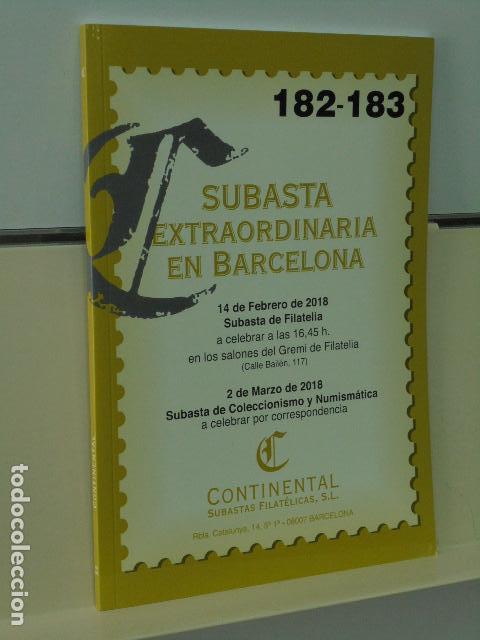 CATALOGO SUBASTA EXTRAORDINARIA EN BARCELONA SUBASTA DE FILATELIA Y DE COLECCIONISMO Y NUMISMATICA (Coleccionismo - Catálogos Publicitarios)