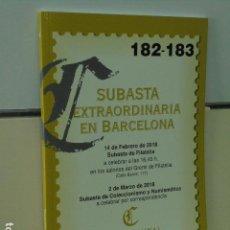 Catálogos publicitarios: CATALOGO SUBASTA EXTRAORDINARIA EN BARCELONA SUBASTA DE FILATELIA Y DE COLECCIONISMO Y NUMISMATICA . Lote 120340911