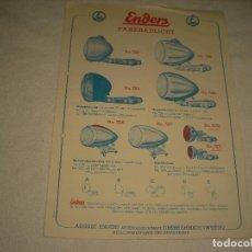 Catálogos publicitarios: ENDERS FAHRRADLICHT, PUBLICIDAD DE LAMPARAS ANTIGUAS DE BICICLETA. Lote 120347223