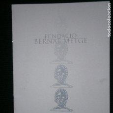 Catálogos publicitarios: F1 FUNDACIO BERNAT METGE CATALEG 2002 . Lote 120389707