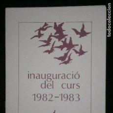 Catálogos publicitarios: F1 INAGURACIO DEL CURS 1982 - 1983 ESCOLA UNIVERSITARIA DE E.G.B CONCERT DE TARDOR TURBA MUSICI. Lote 120397035