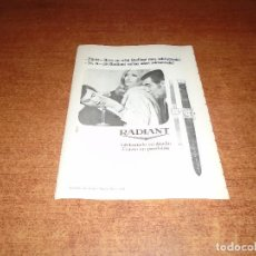 Catálogos publicitarios: PUBLICIDAD EN PRENSA 1969: RELOJ RADIANT. Lote 120861535