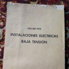 Catálogos publicitarios: CATÁLOGO INSTALACIONES ELECTRICAS BAJA TENSIÓN, CABLES PIRELLI S.A.,1974.. Lote 120889222