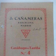 Catálogos publicitarios: COCINAS ECONÓMICAS J CAÑAMERAS 1928. Lote 121035351