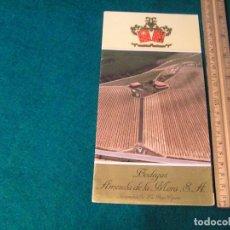 Catálogos publicitarios: FOLLETO TRÍPTICO DE VINOS. BODEGAS AMEZOLA DE LA MORA, S.A. TORREMONTALBO - LA RIOJA. ¿ AÑOS 70-80?. Lote 121122851
