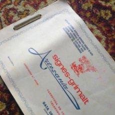 Catálogos publicitarios: CATALOGO GENERAL ARTICULOS ARTESANIA MADERA OLIVO-ARTESANIA SIGNES-GRIMALT, GATA DE GORGOS(ALICANTE). Lote 121333135