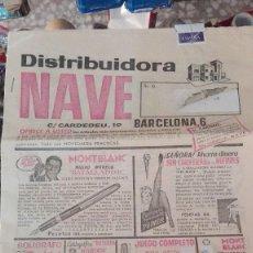 Catálogos publicitarios: CATÁLOGO VENTA POR CORREO DISTRIBUIDORA NAVE AÑOS 50. Lote 121423151