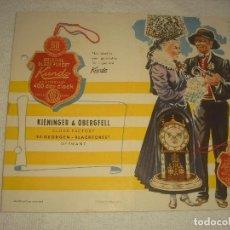 Catálogos publicitarios: KUNDO , KIENINGER & OBERGFELL , CLOCK FACTORY . PUBLICIDAD DE RELOJES EN INGLES. Lote 121443087