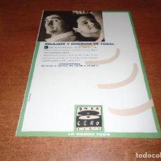 Catálogos publicitarios: PUBLICIDAD EN PRENSA DE 1992: GOMAESPUMA EN ONDA CERO RADIO. Lote 122203639