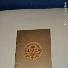 Catálogos publicitarios - FOLLETO PRESENTACION DEL LICOR LEPANTO - 122773111