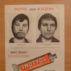 Catálogos publicitarios: INOTYOL CURA EL ECZEMA. Lote 123548495