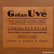 Catálogos publicitarios: GOTAS UVE. Lote 123550243