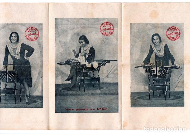 TRÍPTICO PUBLICITARIO ANTIGUO E. SALVÁ MAÑÉ CARPINTERÍA MECÁNICA BARCELONA LABOR PATENT MUEBLES VER (Coleccionismo - Catálogos Publicitarios)