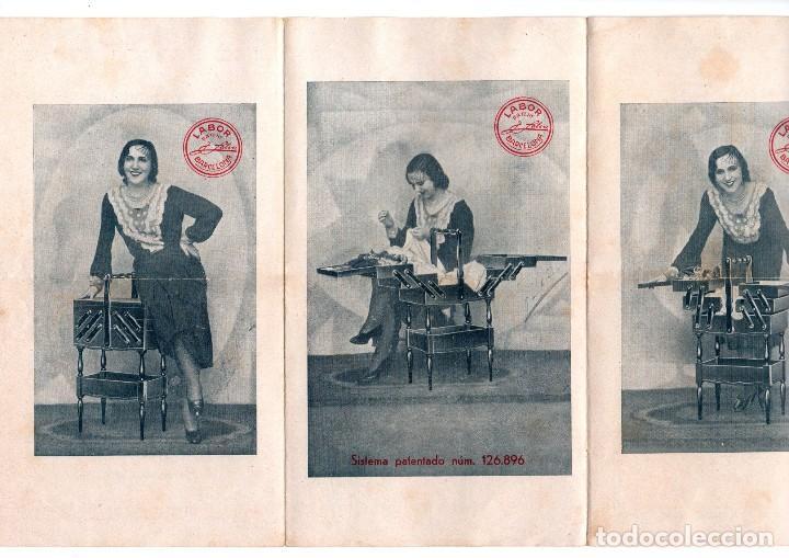 Catálogos publicitarios: TRÍPTICO PUBLICITARIO ANTIGUO E. SALVÁ MAÑÉ CARPINTERÍA MECÁNICA BARCELONA LABOR PATENT MUEBLES VER - Foto 2 - 124030403
