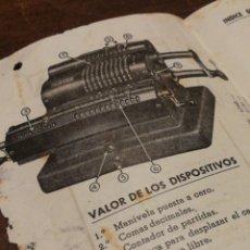 Catálogos publicitarios: MANUAL INSTRUCCIONES MÁQUINA CALCULAR FAMOSA, BARCELONA.. Lote 124154162