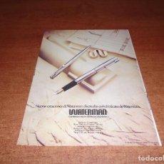 Catálogos publicitarios: PUBLICIDAD EN PRENSA DE 1975: WATERMAN. Lote 124160127