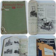 Catálogos publicitarios: CATÁLOGO ILUSTRADO. EDMUNDO Y JOSÉ METZGER, MAQUINARIA Y HERRAMIENTAS PARA OBRAS Y CONSTRUCCIONES. H. Lote 124501491