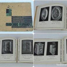 Catálogos publicitarios: CATÁLOGO DE LOS TALLERES DE GALVANOPLASTIA Y GALVANOSTEGIA DE MARCIANO FERNANDEZ, ZAMORA, PLATA, OBJ. Lote 124508935
