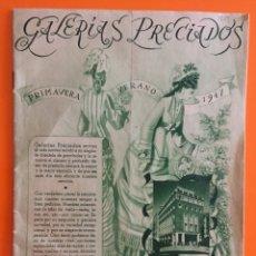 Catálogos publicitarios: CATALOGO GALERIAS PRECIADOS- PRIMAVERA VERANO- 1.947 MADRID. Lote 124532491