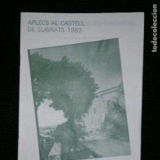Catálogos publicitarios: F1 APLECS AL CASTELL DE SUBIRATS 1989. Lote 124610167
