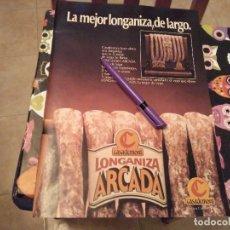 Catálogos publicitarios: ANTIGUO ANUNCIO PUBLICIDAD PARA ENMARCAR LONGANIZA ARCADA CASADEMONT. Lote 124733803