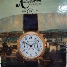 Catálogos publicitarios: CATÁLOGO DE RELOJES AUTIQUORUM AÑO 1999. Lote 125204254