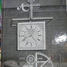 Catálogos publicitarios: CATÁLOGO DE RELOJES AUTIQUORUM AÑO 1999. Lote 125204438