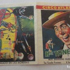 Catálogos publicitarios: CIRCO ATLAS.HERMANOS TONETTI.5 FELLER'S.WILLY CARR AND PARTINER.MAMBER.TANIKO.1959. Lote 125233091