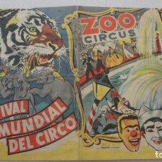 Catálogos publicitarios: FESTIVAL MUNDIAL DEL CIRCO.ZOO CIRCUS.CIRCO KRONE.CIRCO PALMIRI.CIRCO PRICE.CIRCO BENNEWEIS.. Lote 125233403