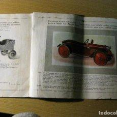 Catálogos publicitarios: PRECIOSO ANTIGUO CATALOGO JUGUETES SPIELZEUG TRENES FERROCARRILES LOCOMOTORAS A CUERDA AUTOMOVILES . Lote 125233787
