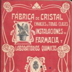 Catálogos publicitarios: JUAN GIRALT LAPORTA. 1907. CATÁLOGO FÁBRICA DE CRISTAL. ENVASES DE TODAS CLASES. BARCELONA Y MADRID. Lote 126009195