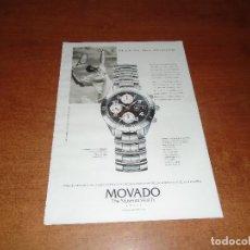Catálogos publicitarios: PUBLICIDAD EN PRENSA DE 1999: MOVADO RELOJ. Lote 126599823