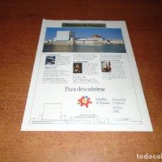 Catálogos publicitarios - PUBLICIDAD EN PRENSA DE 1992: PABELLÓN DE ESPAÑA EXPOSICIÓN UNIVERSAL DE SEVILLA 1992 - 126764371
