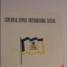 Catálogos publicitarios: CLUB DE CAMPO.CONCURSO HIPICO INTERNACIONAL OFICIAL.DIAS SEGUNDO Y TERCERO.MADRID 1949. Lote 126824871