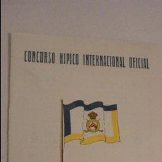 Catálogos publicitarios: CLUB DE CAMPO.CONCURSO HIPICO INTERNACIONAL OFICIAL.DIAS CUARTO Y QUINTO.MADRID 1949. Lote 126825003