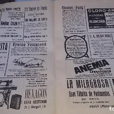 Catálogos publicitarios: LOTE DE HOJAS CON PUBLICDAD DE EPOCA VALENCIA 1923. Lote 126897543