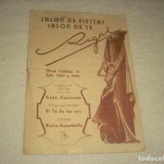Catálogos publicitarios: SALON DE FIESTAS, SALON DE TE RIGAT.. Lote 126964639