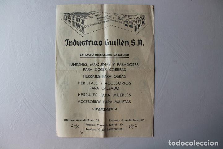 CATÁLOGO PUBLICITARIO INDUSTRIAS GUILLÉN, SA, BARCELONA (Coleccionismo - Catálogos Publicitarios)