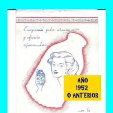Catálogos publicitarios: MIEL DE CAÑA NUESTRA SEÑORA DEL CARMEN - DE LA TORRE S.A. - FRIGILIANA - MÁLAGA - FOLLETO AÑOS 50. Lote 127591071